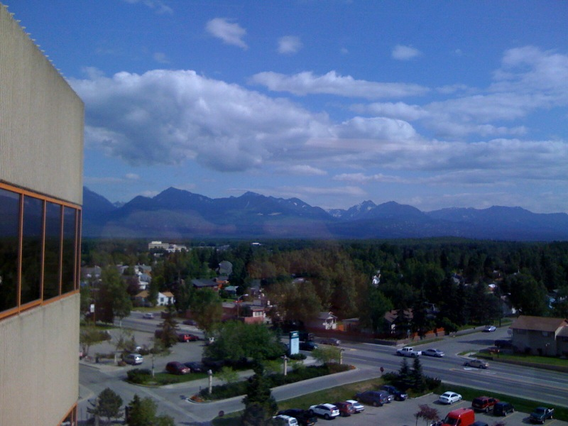 Chugach mountain range in Anchorage, Alaska
