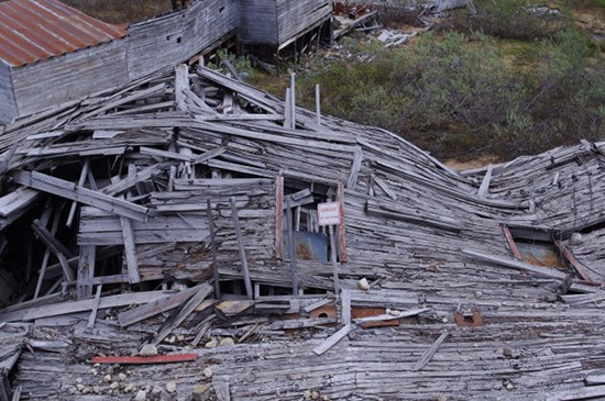 A building in Independence Mine, Hatcher Pass, Alaska