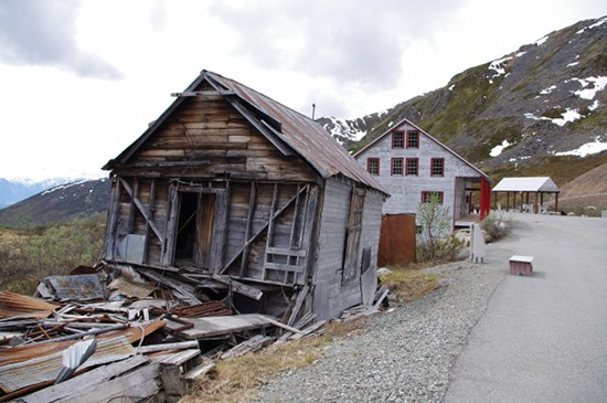 Several buildings in Independence Mine, Hatcher Pass, Alaska