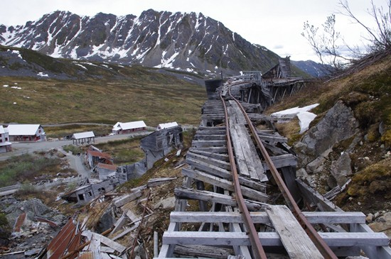 Part of the railway in Independence Mine, Hatcher Pass, Alaska