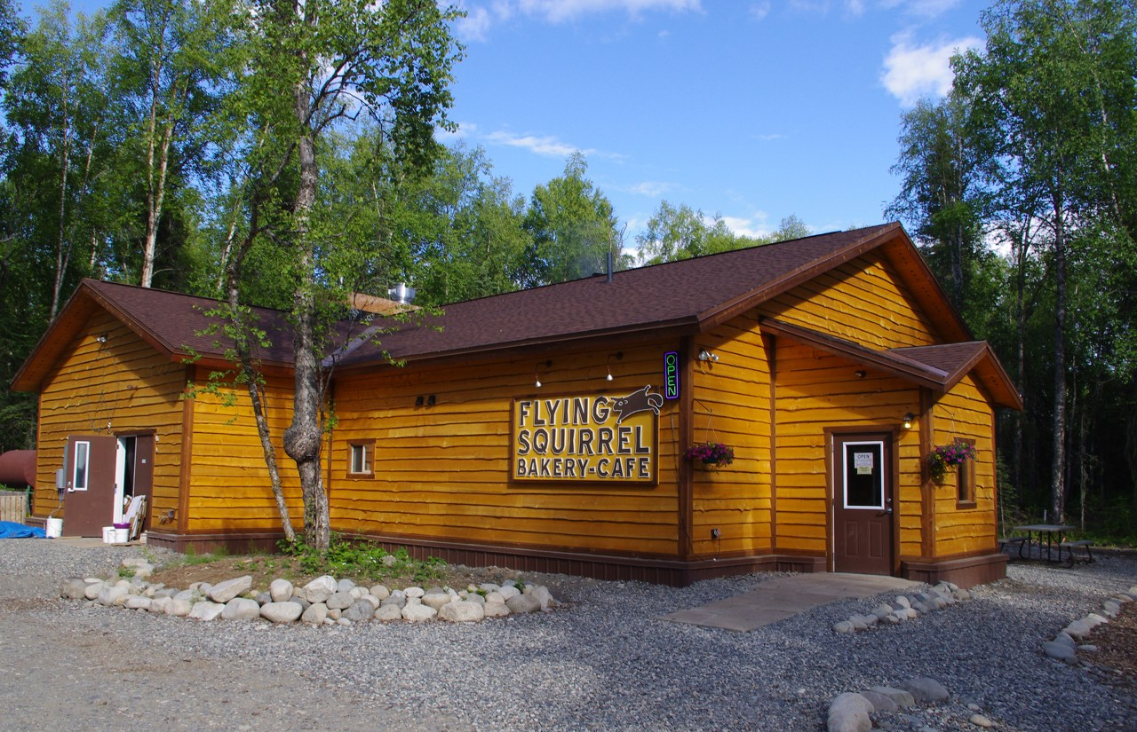 Favorite restaurant in Talkeetna, Alaska - Flying Squirrel Cafe