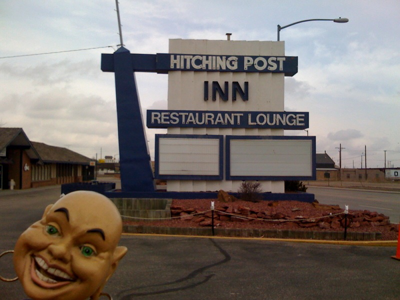 The Hitching Post Inn sign