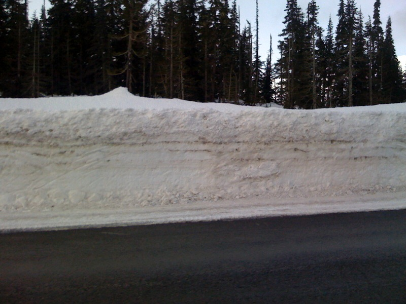 Snow piled up on the roadside between Stewart and Dease Lake, British Columbia (1)