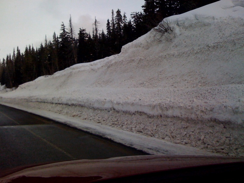 Snow piled up on the roadside between Stewart and Dease Lake, British Columbia (2)