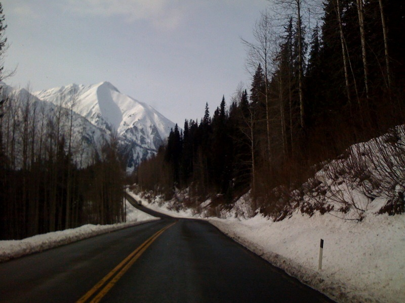 The road between Stewart and Dease Lake, British Columbia