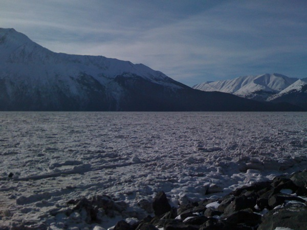 Ice in Turnagain Arm, south of Anchorage, Alaska