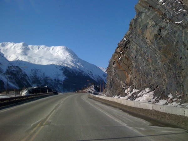 Portage and Whittier, Alaska area, winter, 2011