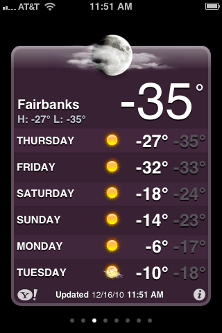 Fairbanks, Alaska winter weather