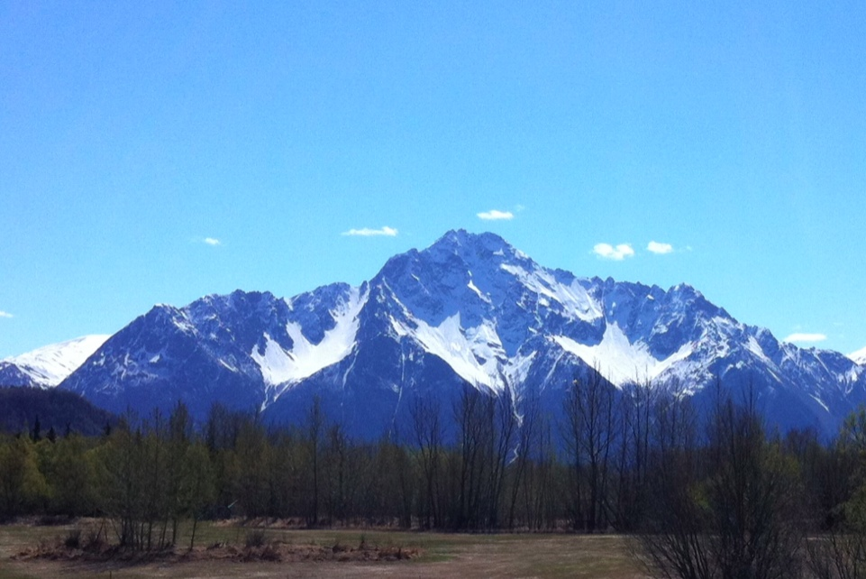 Photo from a bike ride in Palmer, Alaska today