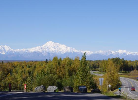 Denali, as seen from Talkeetna, Alaska, September 12, 2010