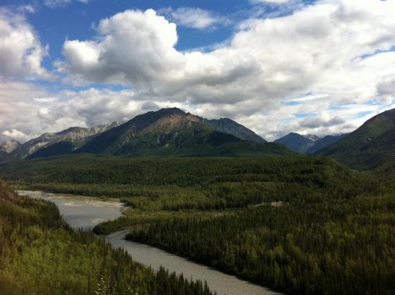 The Glenn Highway, Alaska, North of Palmer