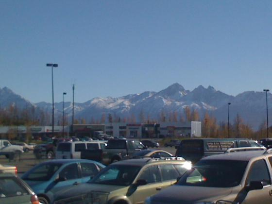 Wasilla mountain range and the termination dust