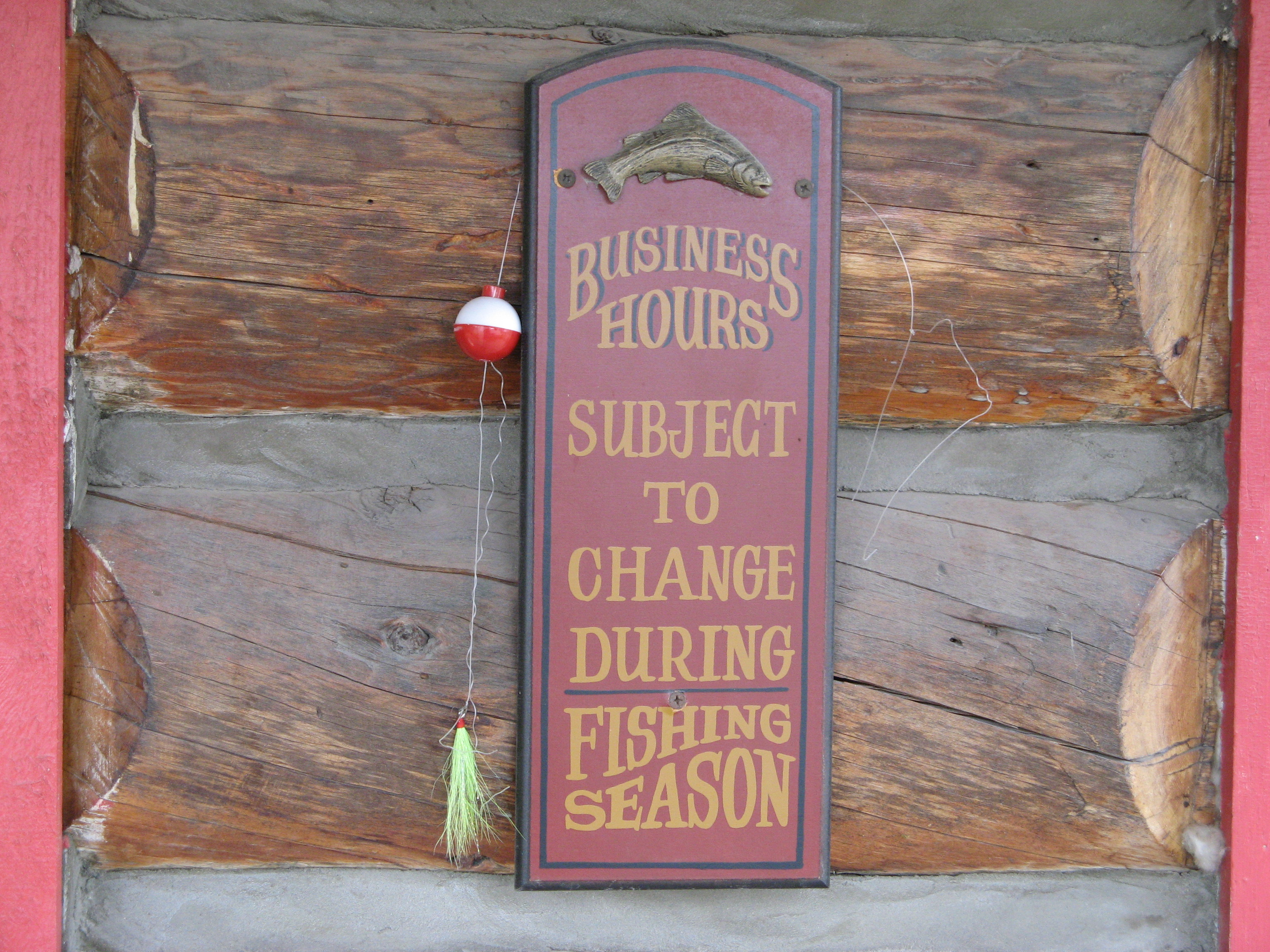 Great Talkeetna, Alaska fishing sign.