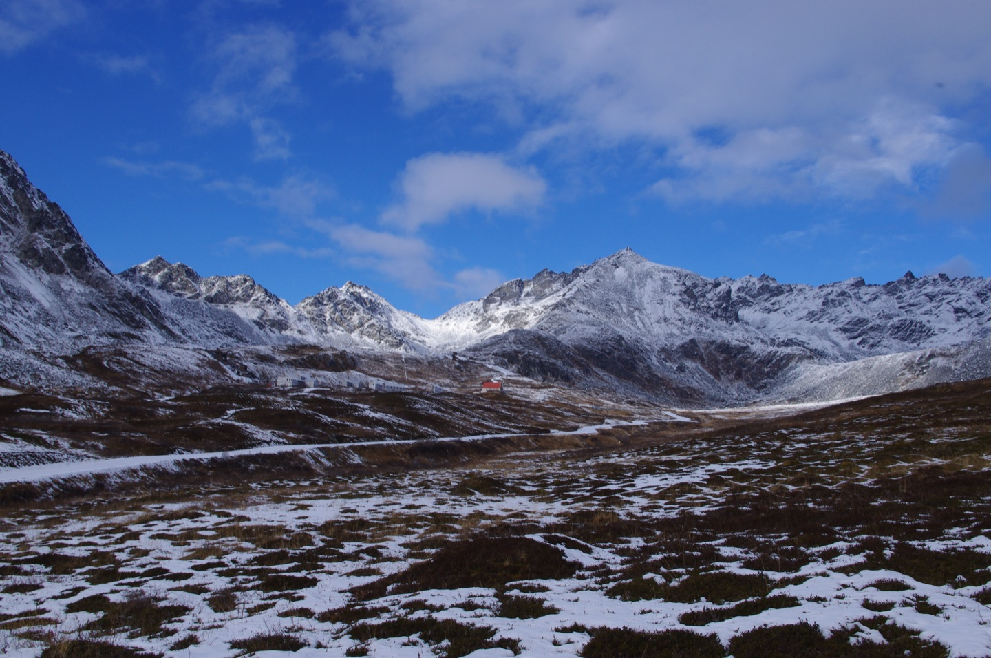 Hatcher Pass, Alaska mountain range.
