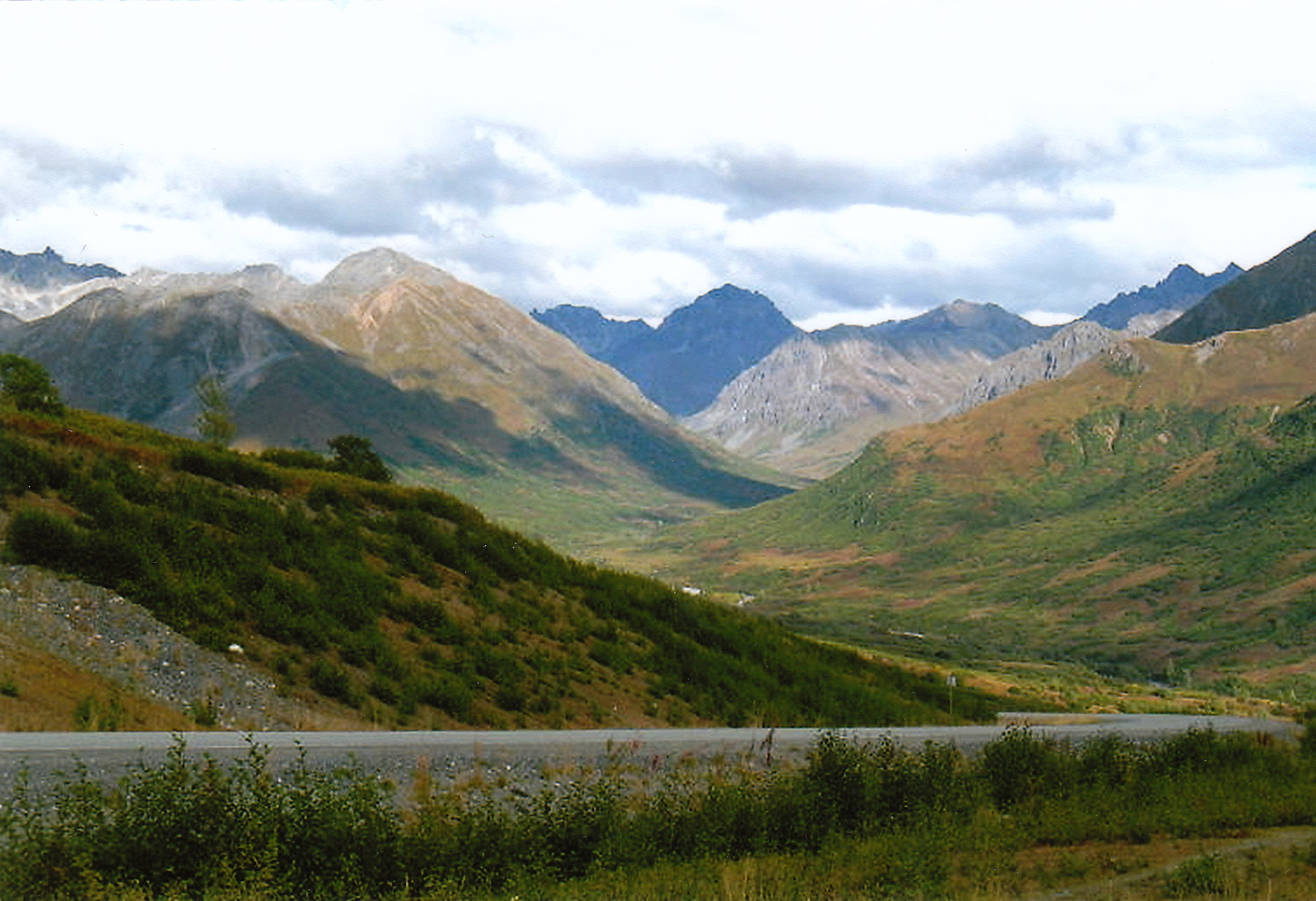 The mountains of Hatcher Pass.
