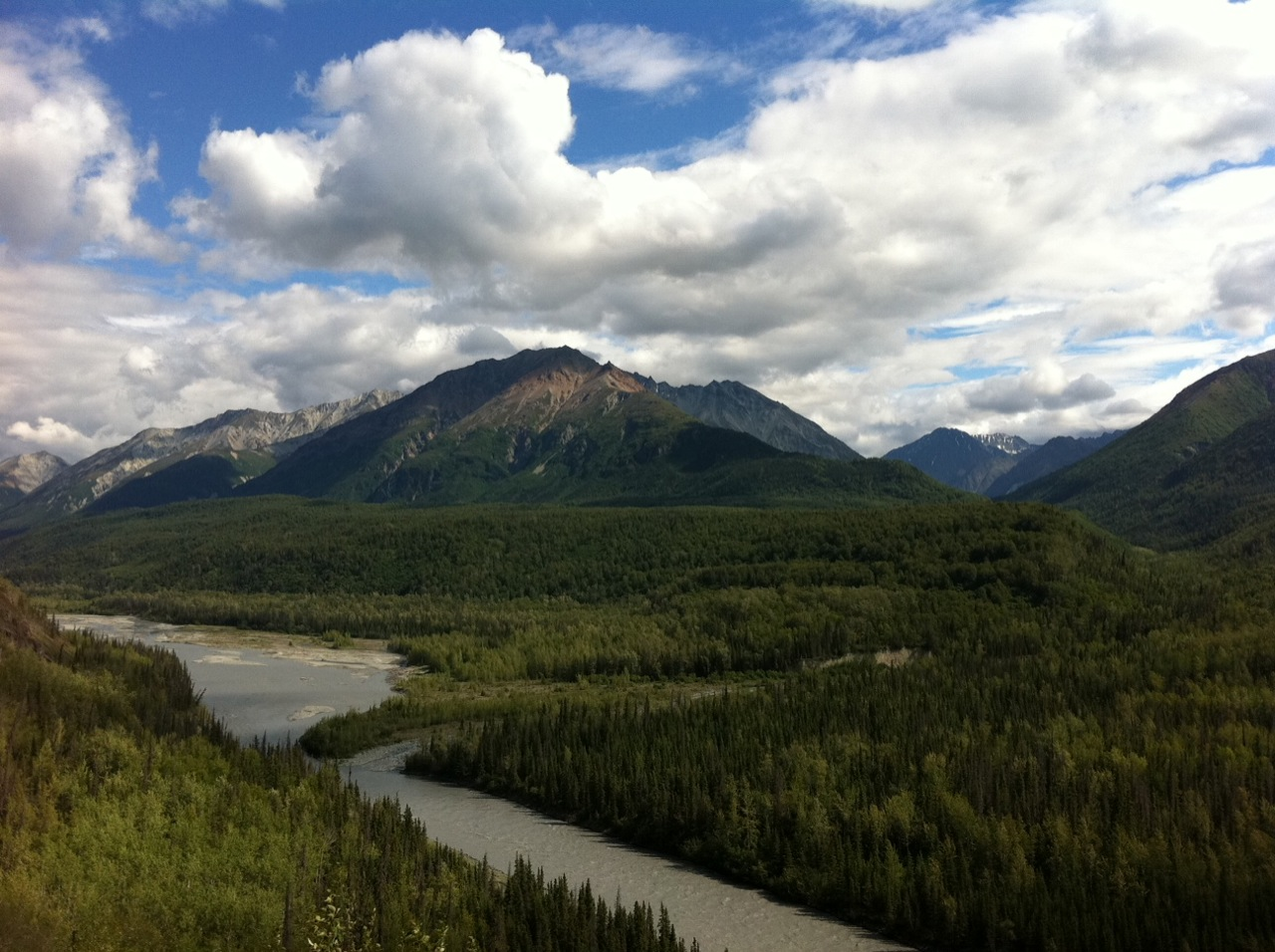 The Glenn Highway, Alaska, North of Palmer.