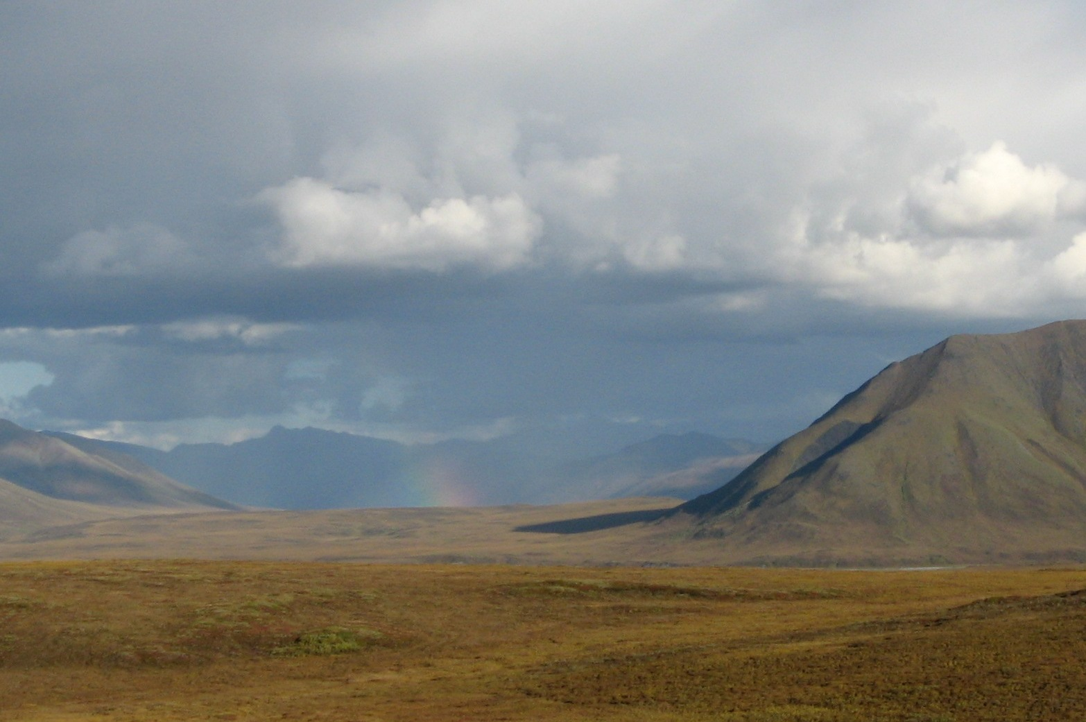 Rainbow on the Dalton Highway.