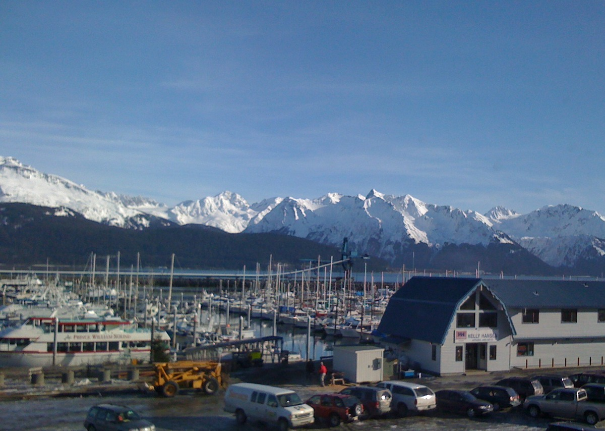Seward, Alaska harbor (port) area, February, 2011.