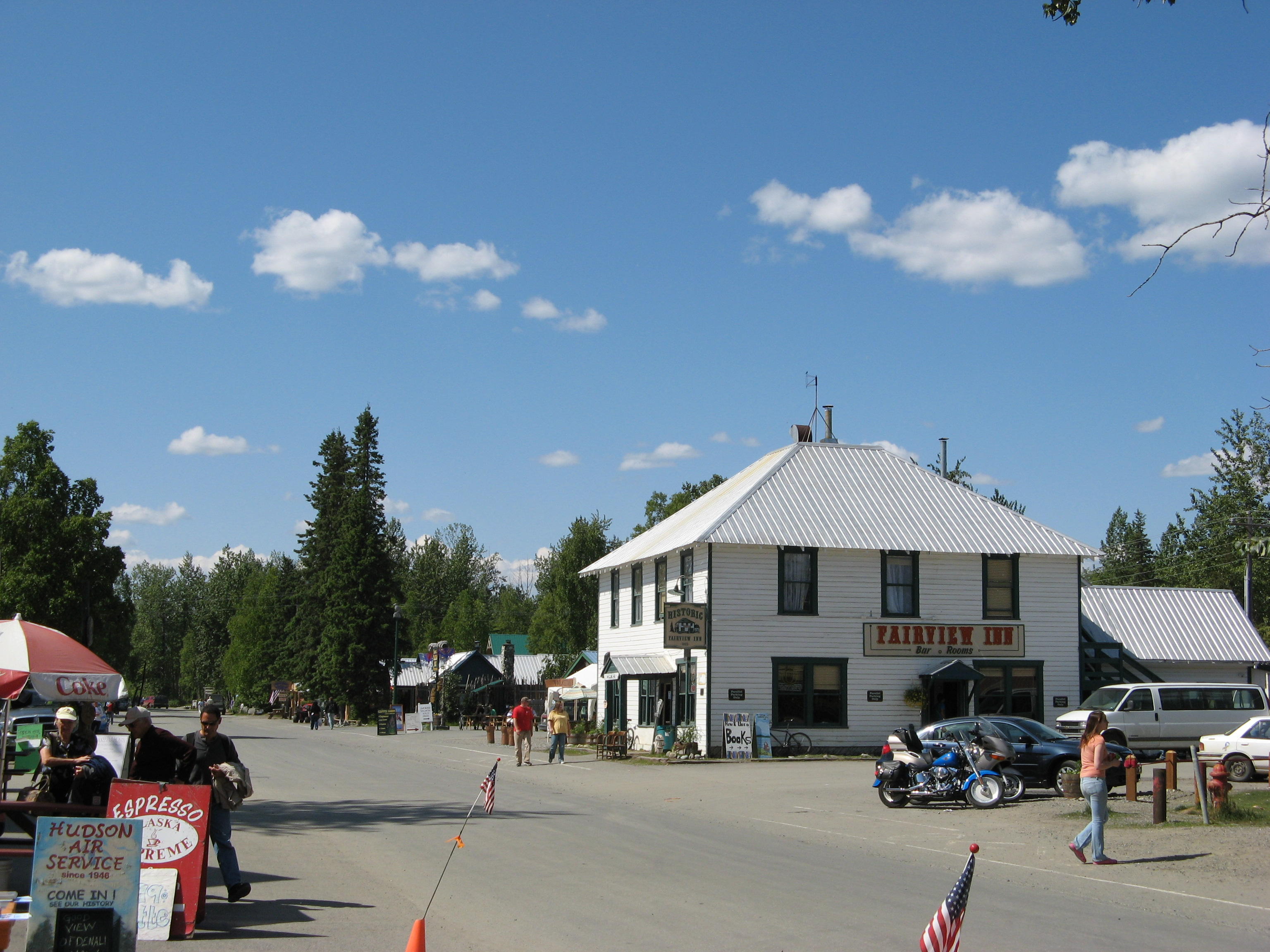 The Fairview Inn in Talkeetna, Alaska.
