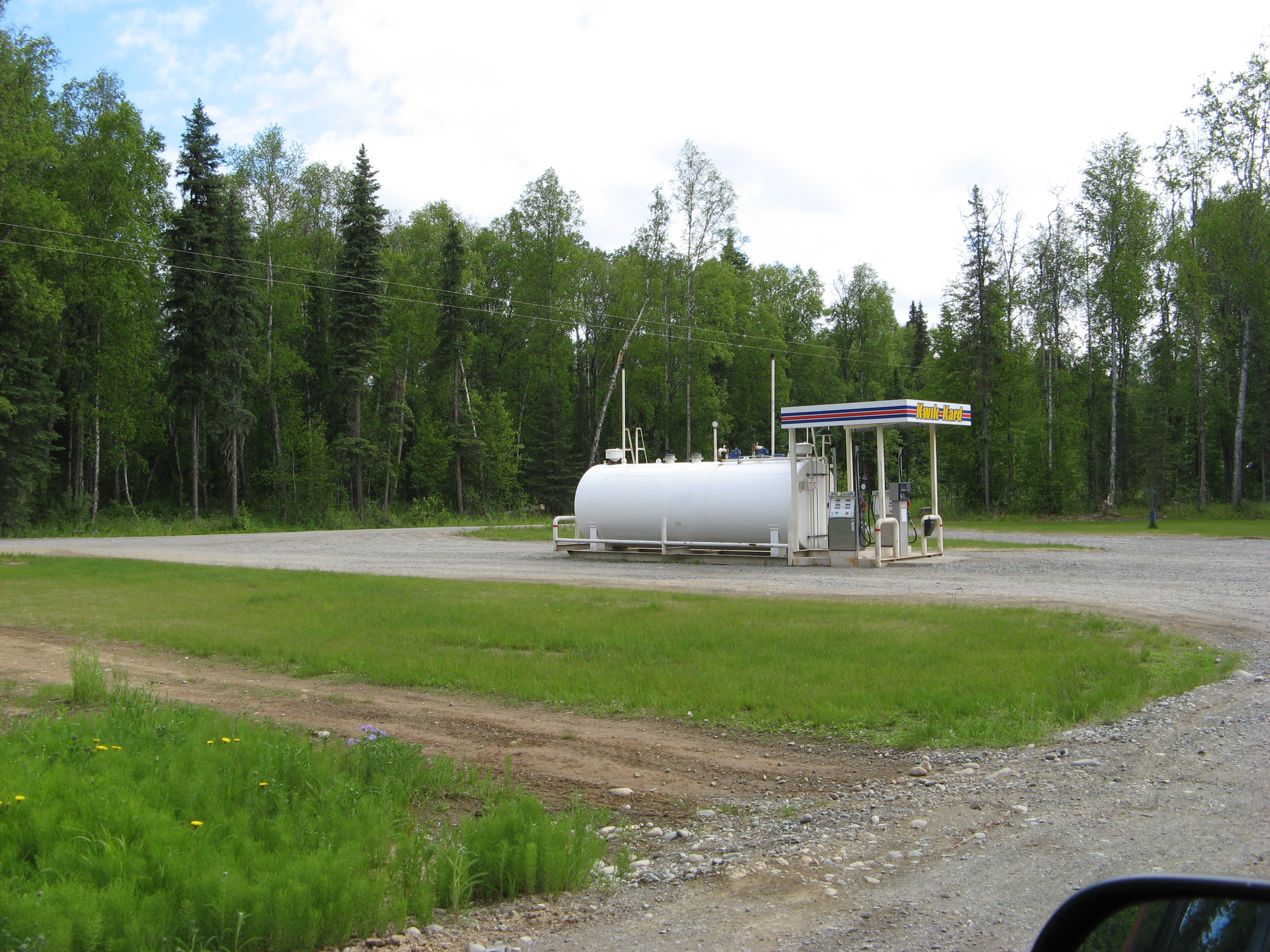 The gas station in Talkeetna, Alaska.