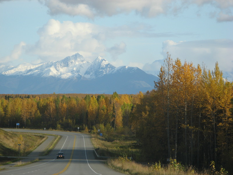 Driving south to Wasilla.