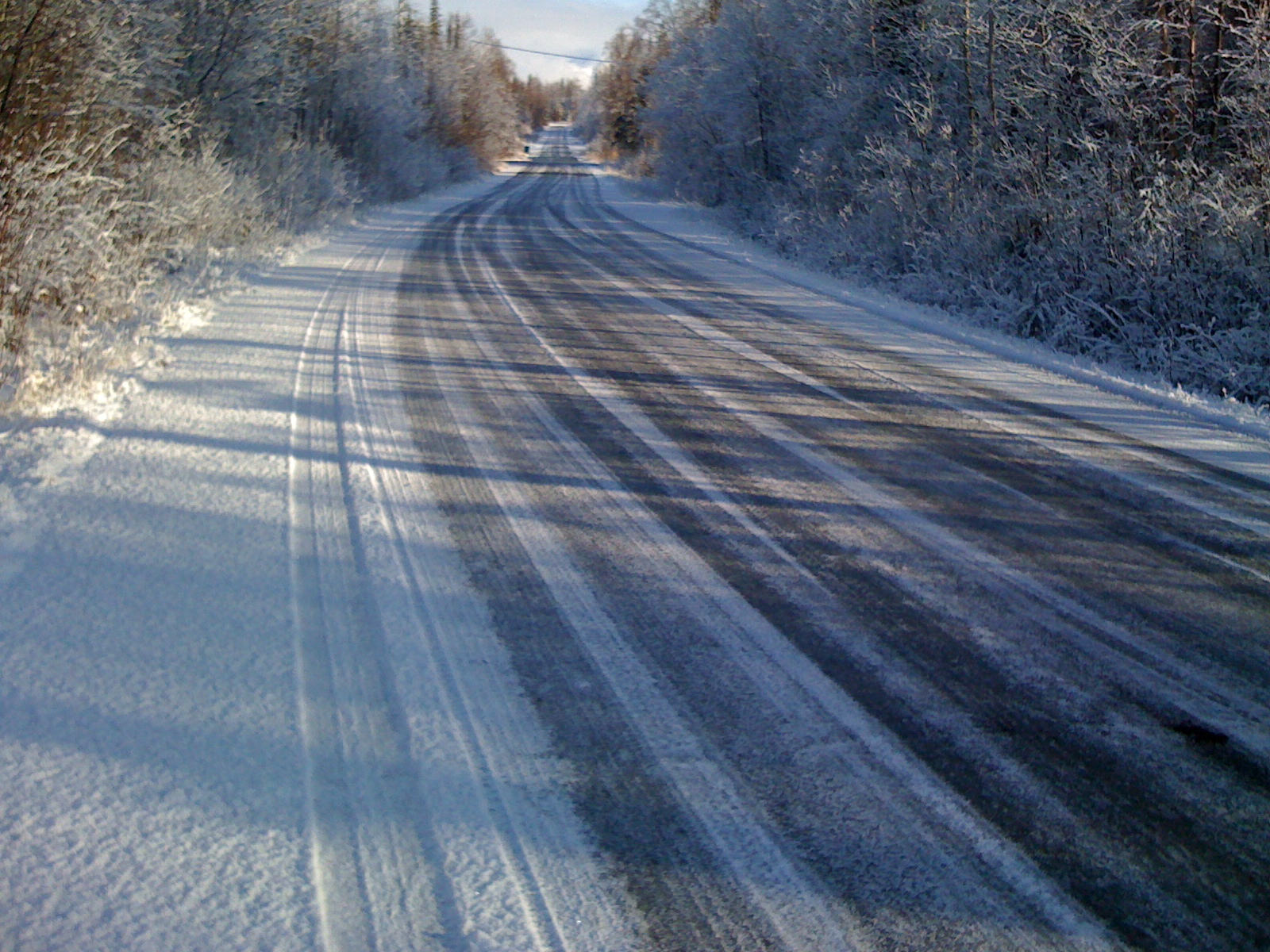 Wasilla, Alaska side roads - Ice and snow for the winter.