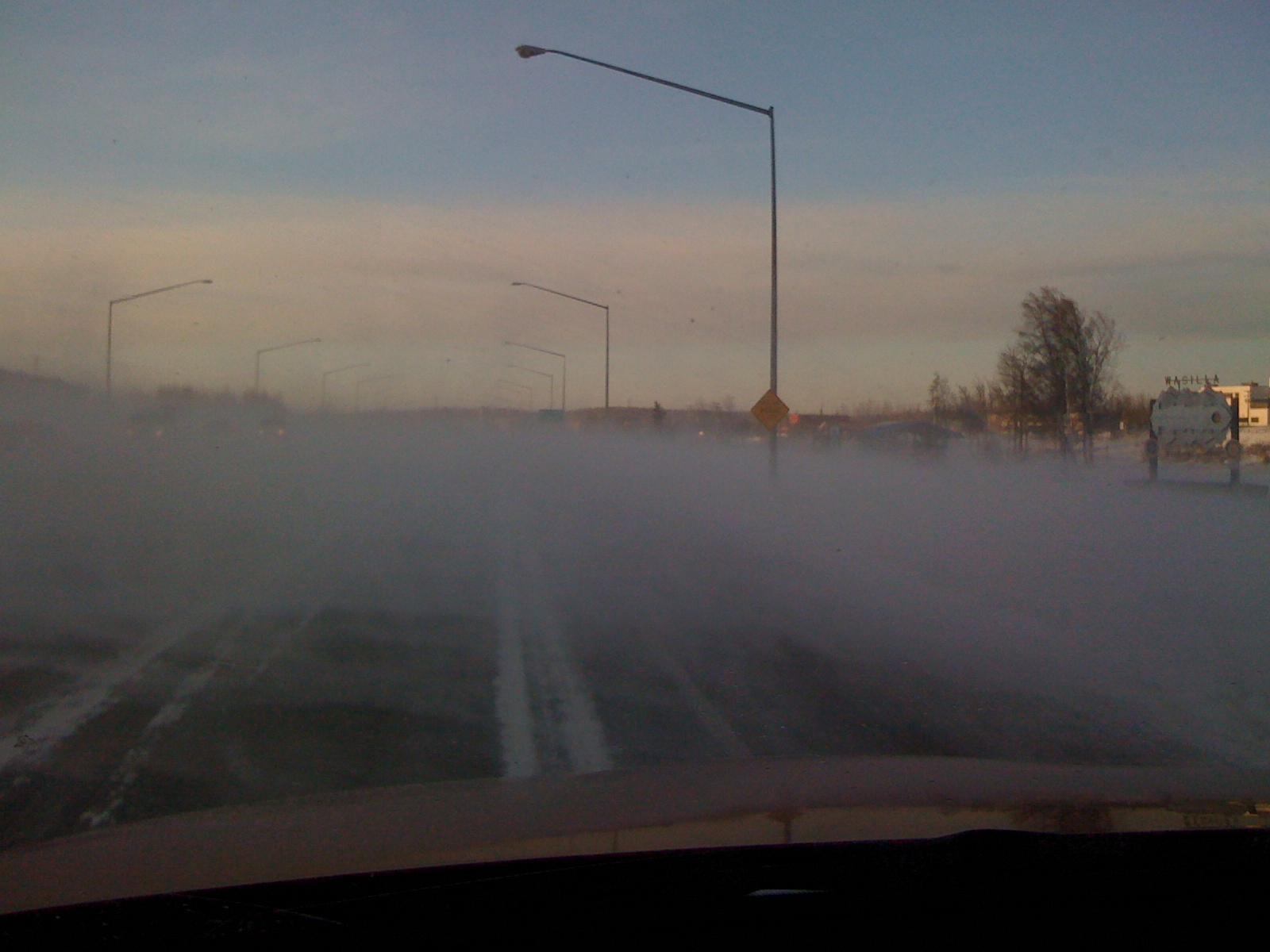 Wasilla, Alaska weather - December 15, 2010 - Can't see road (high winds).