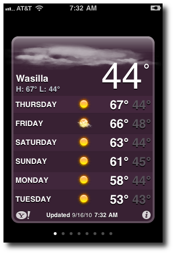 Wasilla weather in September.