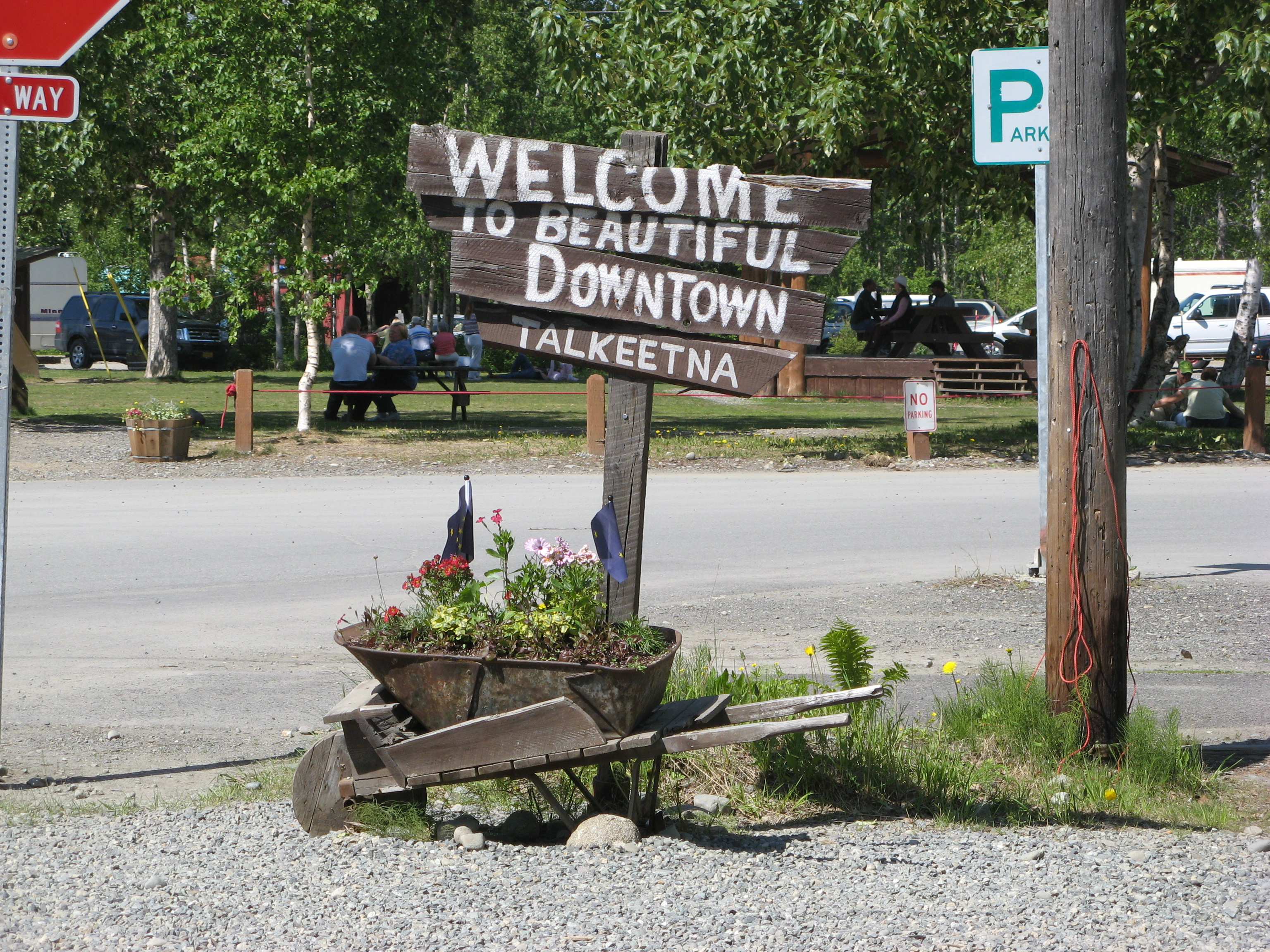 Talkeetna Welcome sign.