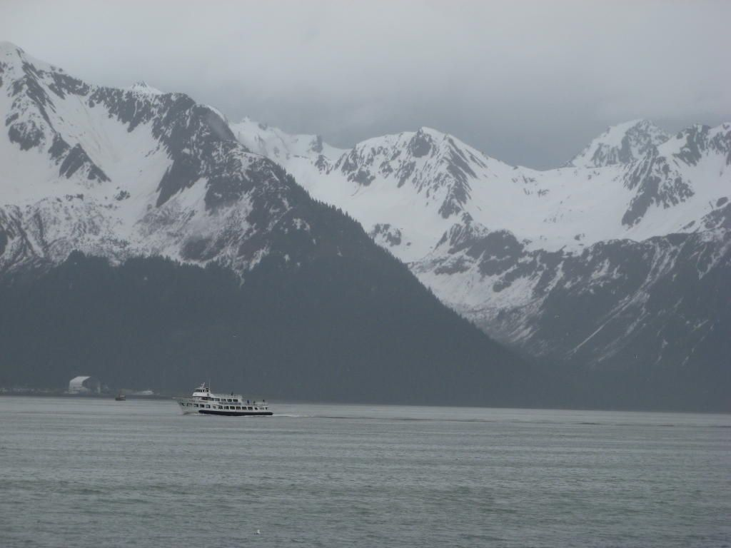 A boat in the fog (Seward, Alaska)