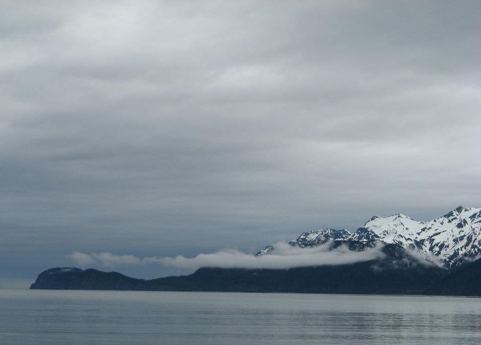 A picture of Seward, Alaska, from the other side of the bay