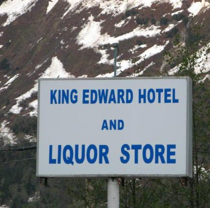 The King Edward Hotel and Liquor Store sign