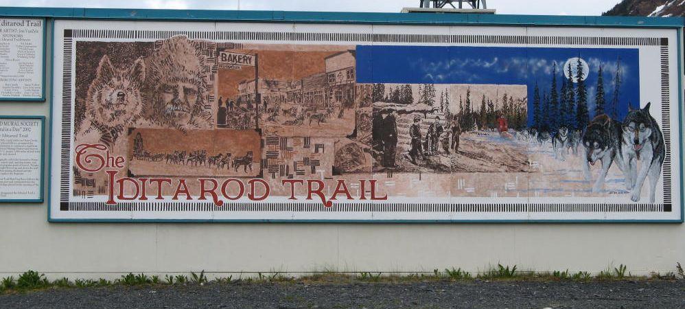 A mural from Seward, Alaska