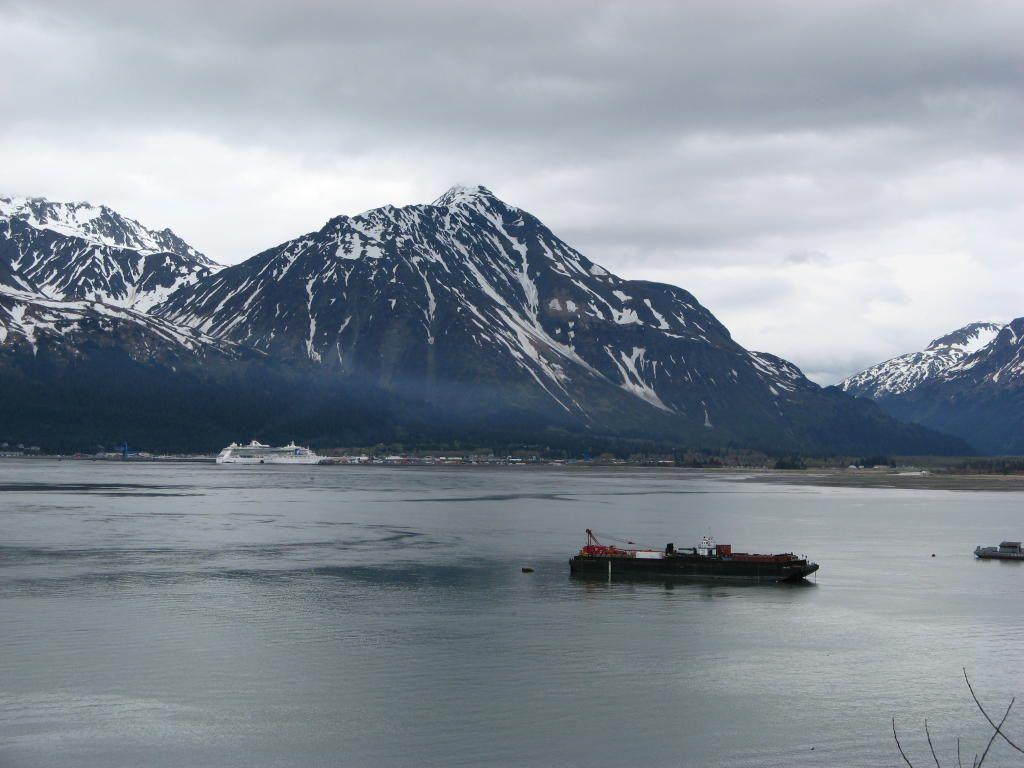A picture of Seward from the other side of the water
