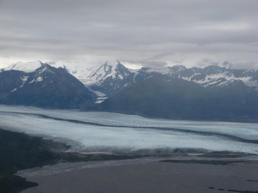 First glacier view from float plane ride
