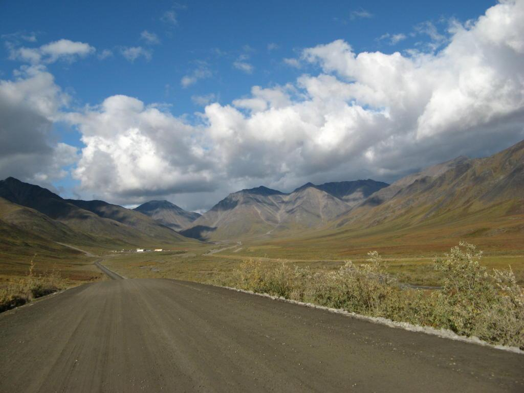A 'typical' picture from the Dalton Highway, in the Brooks Range.