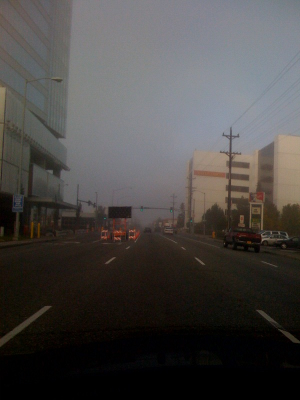 Fog in Anchorage, AK