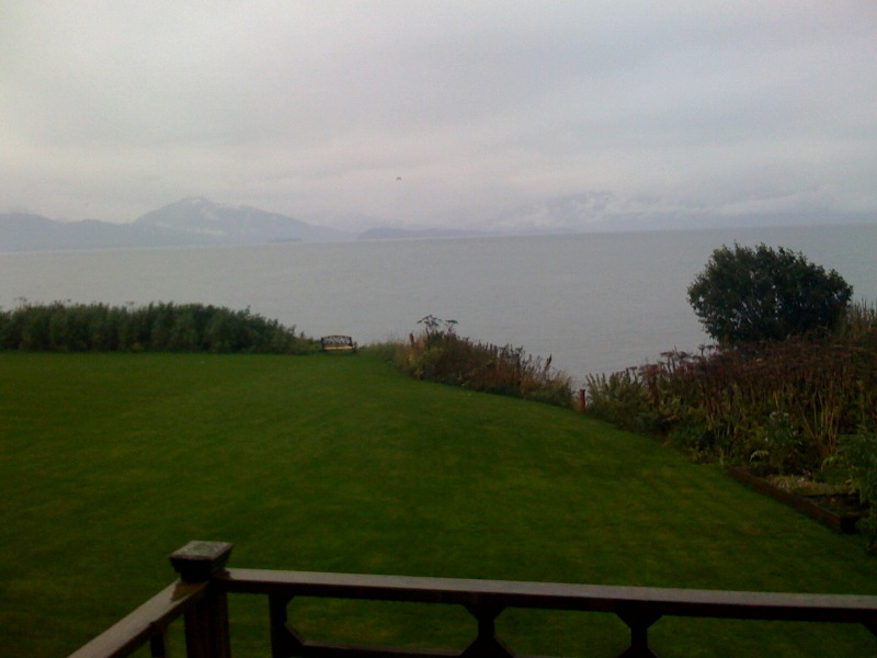 View from the Jenny Lane Cottage in Homer, Alaska