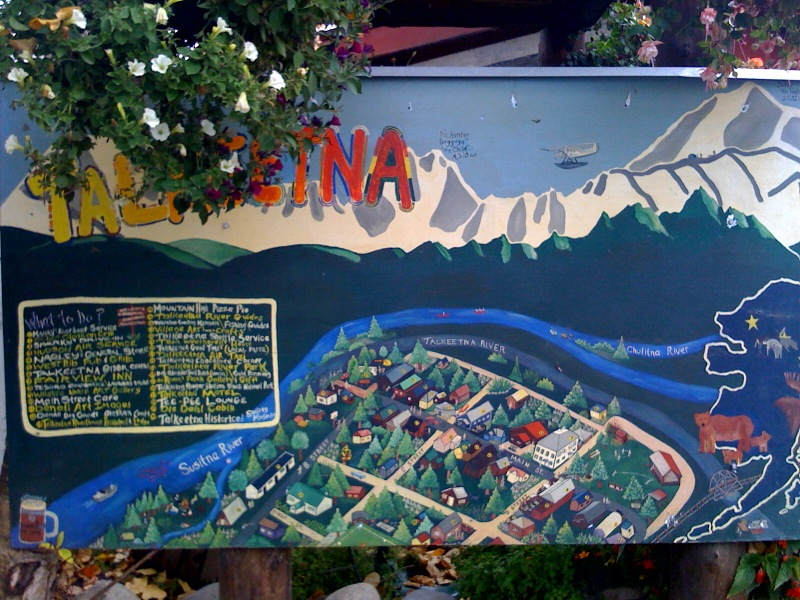 Map of Talkeetna Alaska
