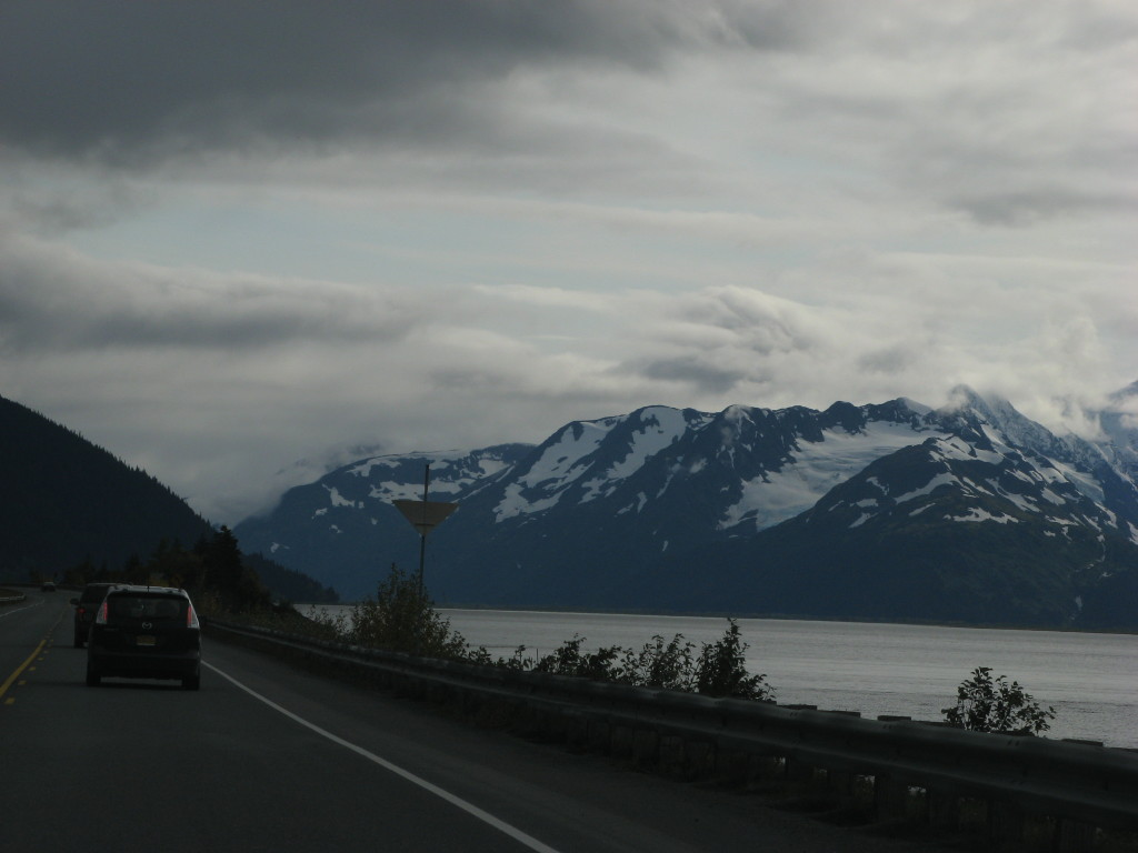 Driving from Anchorage to Seward, Alaska, near Turnagain Arm