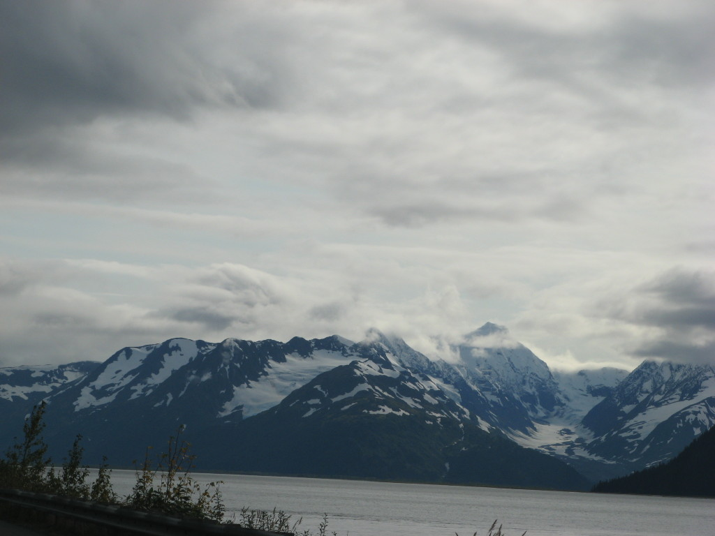 Driving from Anchorage to Seward, Alaska, near Turnagain Arm (picture #2)