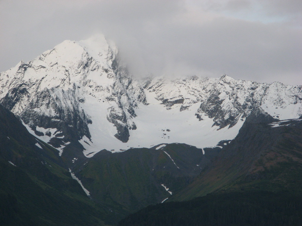 Mountain range in Seward, Alaska (the other side of Resurrection Bay), picture #2