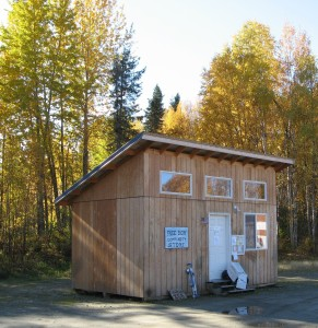 Talkeetna Free Box, as seen from the road