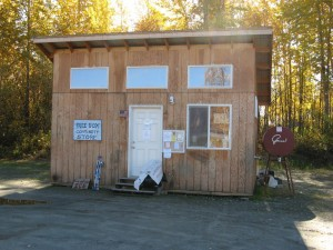 Talkeetna Free Box, as seen from the front