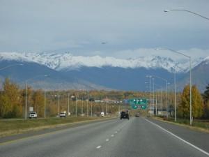 Driving north to Wasilla