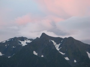 Even closer view of mountain range across Resurrection Bay