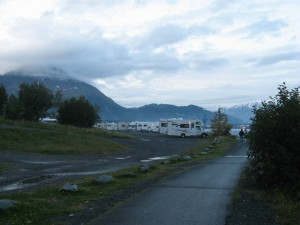 A view of the Resurrection campground in Seward